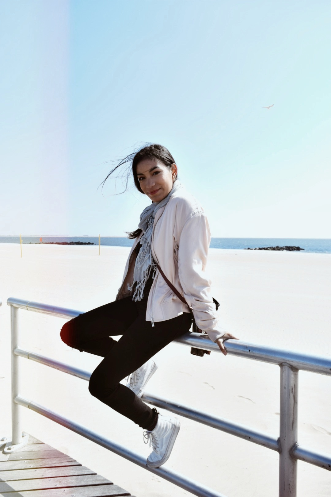 Coney Island fashion blog Samira navas bomber jacket